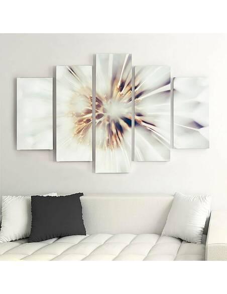 Composition de 5 tableaux MAÏS EN ÉPI imprimé sur toile - par Feeby