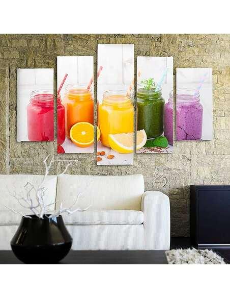 Composition de 5 tableaux COLLECTION FRUIT imprimé sur toile - par Feeby
