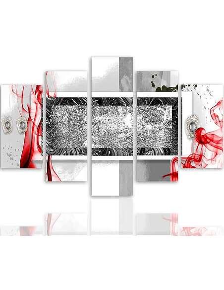 Composition de 5 tableaux ABSTRAITE 2 imprimé sur toile - par Feeby