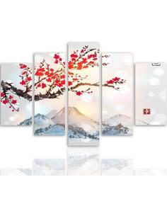 Composition de 5 tableaux LE JAPON PAYSAGE 4 imprimé sur toile - par Feeby