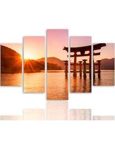 Composition de 5 tableaux LE JAPON PAYSAGE 6 imprimé sur toile - par Feeby