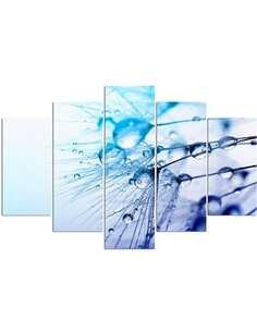 Composition de 5 tableaux GOUTTES D'EAU DMUCHAWCU imprimé sur toile - par Feeby