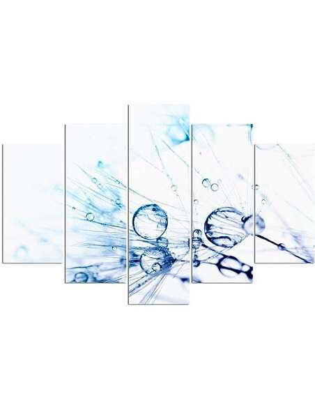 Composition de 5 tableaux GOUTTES D'EAU DMUCHAWCU 2 imprimé sur toile - par Feeby