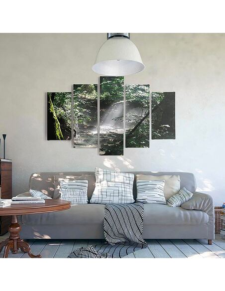 Composition de 5 tableaux BRÓDNOWSKI FORÊT imprimé sur toile - par Feeby