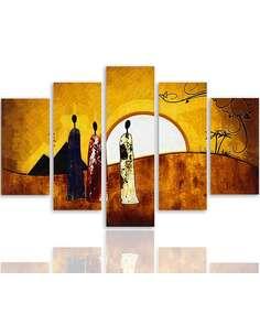 Composition de 5 tableaux ENSOLEILLÉ EGYPTE imprimé sur toile - par Feeby