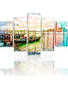 Composition de 5 tableaux VENISE imprimé sur toile - par Feeby