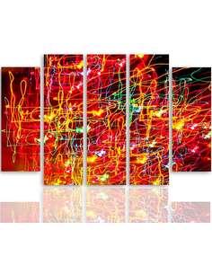 Composition de 5 tableaux ABSTRACTION 10 imprimé sur toile - par Feeby