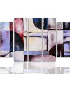 Composition de 5 tableaux ABSTRACTION 31 imprimé sur toile - par Feeby