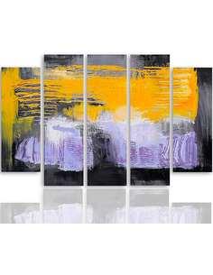 Composition de 5 tableaux ABSTRACTION 37 imprimé sur toile - par Feeby