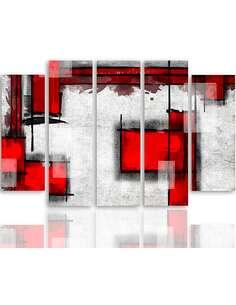 Composition de 5 tableaux DE ABSTRACTION GÉOMÉTRIQUE 5 imprimé sur toile - par Feeby