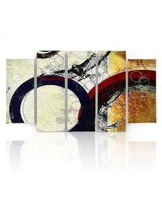 Composition de 5 tableaux B ABSTRACTION imprimé sur toile - par Feeby