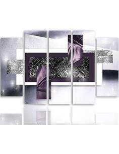 Composition de 5 tableaux ABSTRACTION TOILE imprimé sur toile - par Feeby