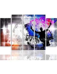 Composition de 5 tableaux DANCE ART imprimé sur toile - par Feeby
