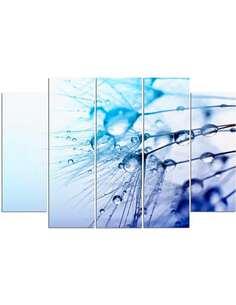 Composition de 5 tableaux GOUTTES D'EAU imprimé sur toile - par Feeby