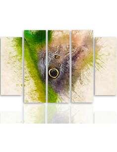 Composition de 5 tableaux BUTTERFLY 1 imprimé sur toile - par Feeby