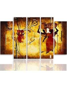 Composition de 5 tableaux AFRIQUE NOSIWODY imprimé sur toile - par Feeby