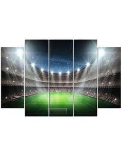 Composition de 5 tableaux DE UN STADE DE FOOTBALL À L'HONNEUR imprimé sur toile - par Feeby