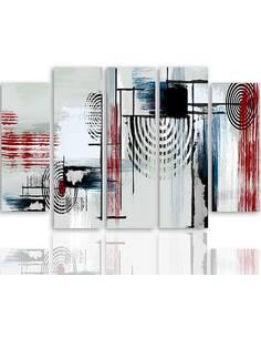 Composition de 5 tableaux 1 SHIELDS imprimé sur toile - par Feeby