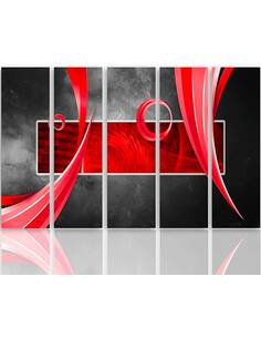 Composition de 5 tableaux ABSTRACTION imprimé sur toile - par Feeby