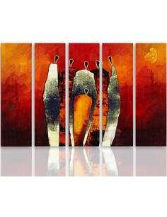 Composition de 5 tableaux COMPOSITIONS FIGURATIVES imprimé sur toile - par Feeby