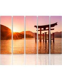 Composition de 5 tableaux PAYSAGE JAPON 6 imprimé sur toile - par Feeby