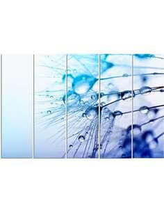 Composition de 5 tableaux DES GOUTTES D'EAU imprimé sur toile - par Feeby