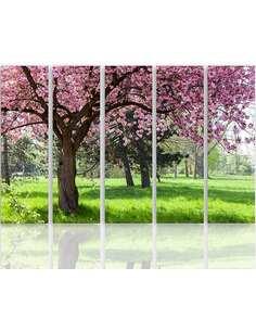 Composition de 5 tableaux LE ARBRE BLOOMING imprimé sur toile - par Feeby
