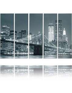 Composition de 5 tableaux PONT imprimé sur toile - par Feeby