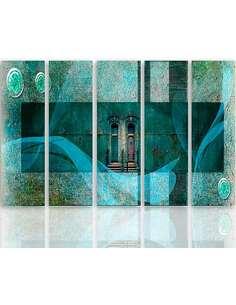 Composition de 5 tableaux MOTIF ARCHITECTURAL imprimé sur toile - par Feeby