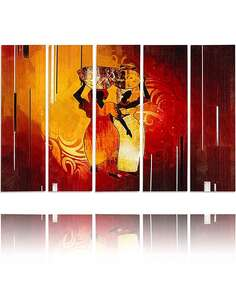 Composition de 5 tableaux SUD imprimé sur toile - par Feeby