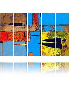 Composition de 5 tableaux PERVERS imprimé sur toile - par Feeby