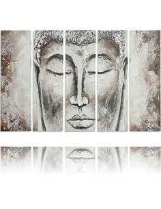 Composition de 5 tableaux LE VISAGE PEINT imprimé sur toile - par Feeby