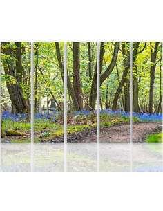 Composition de 5 tableaux LE PRINTEMPS DANS LE PARC imprimé sur toile - par Feeby