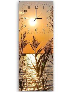 Tableau horloge murale et patère COUCHER DE SOLEIL DE CANNE - par Feeby