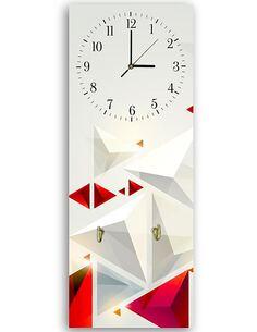 Tableau horloge murale et patère 3 ABSTRACTION - par Feeby