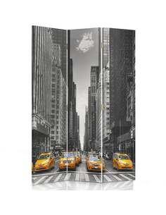 Paravent 3 volets NEW-YORK TAXI - par Feeby