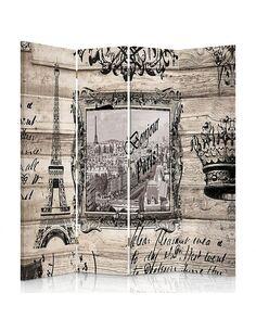 Paravent 4 volets BONJOUR PARIS - par Feeby