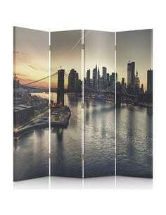 Paravent 4 volets PONT DE BROOKLYN À NEW YORK - par Feeby