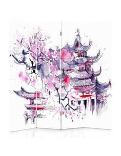 Paravent 4 volets PAYSAGE JAPONAIS - par Feeby