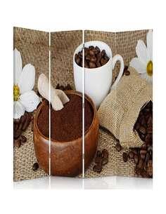 Paravent 4 volets CAFÉ SOL - par Feeby