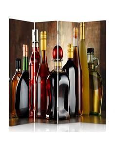 Paravent 4 volets UNE COLLECTION D'ALCOOL - par Feeby