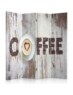 Paravent 4 volets CAFÉ INSCRIPTION DES GRAINS DE CAFÉ - par Feeby