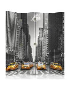 Paravent 4 volets À NEW YORK TAXI - par Feeby