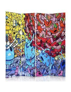 Paravent 4 volets STREET ART À BELFAST - par Feeby