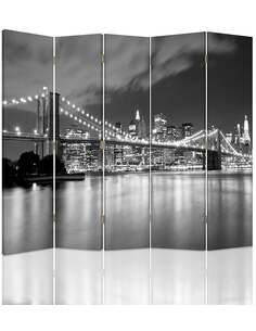 Paravent 5 volets BROOKLYN BRIDGE NOCĄ - par Feeby
