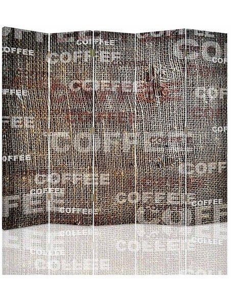 Paravent 5 volets CAFÉ - par Feeby