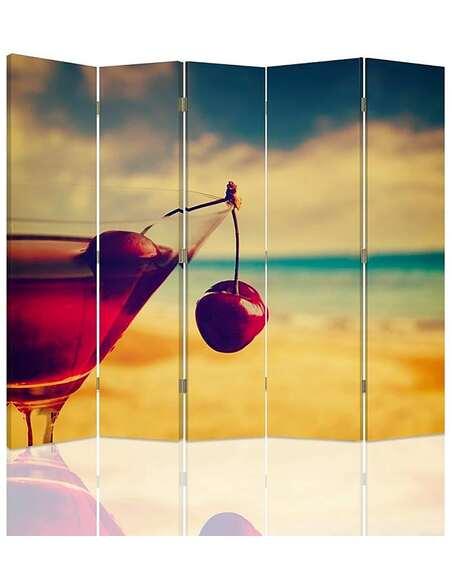Paravent 5 volets DRINK WISNIOWY - par Feeby