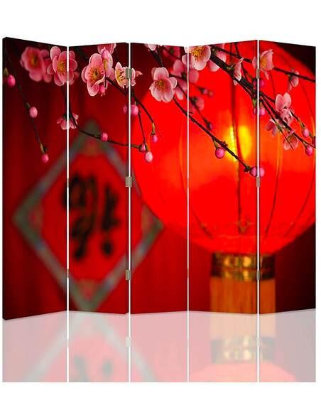 Paravent 5 volets LANTERNE JAPONAISE - par Feeby