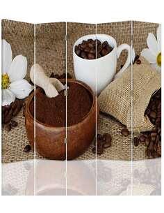 Paravent 5 volets CAFÉ MOULU - par Feeby