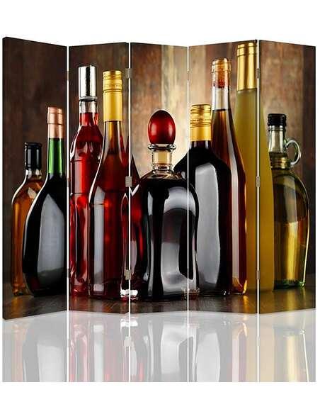 Paravent 5 volets ALCOOLS COLLECTION - par Feeby
